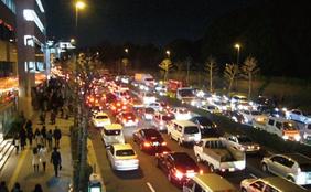 写真-1 東日本大震災時の東京の渋滞状況