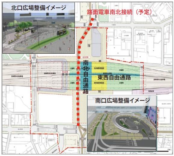 図-1 富山駅の完成イメージ。