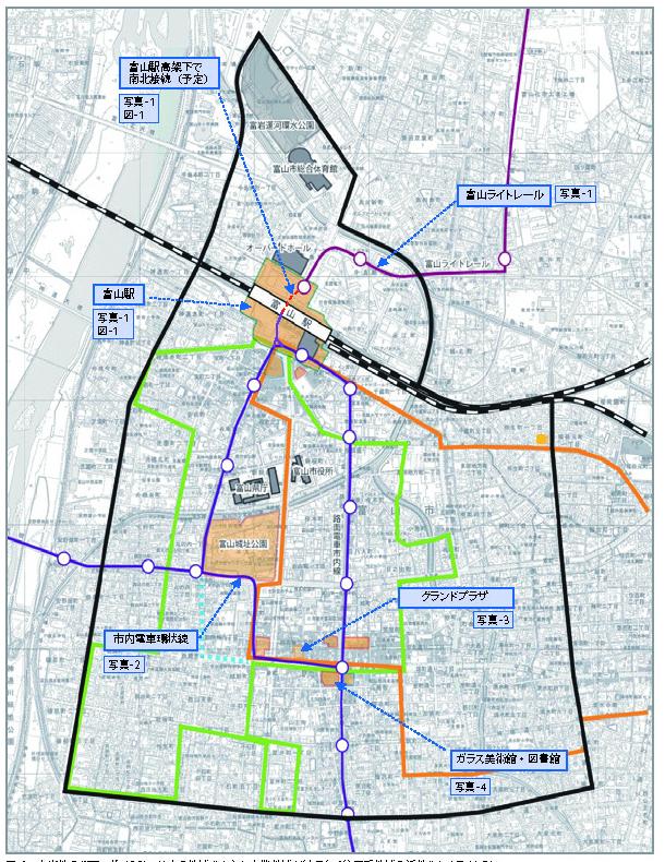 図-2 市街地の概要。