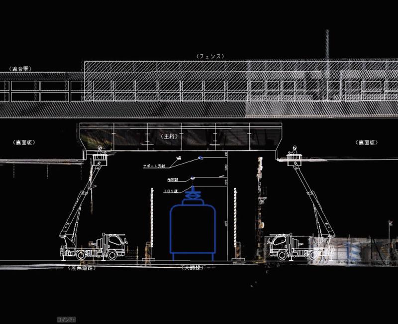 図-2 鉄道交差部の図面作成例