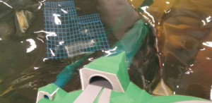 図-13 地山を透明樹脂で作った3Dプリンター事例(透明樹脂利用)
