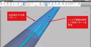 図-6 トンネルナビと支保パターンを重ねたモデル