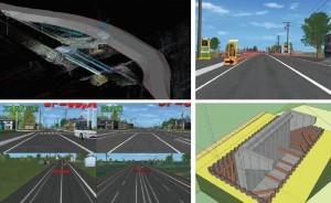 写真-2 3Dモデルによる仮設検討