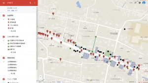 Google Mapで公開中の商店街のマップ