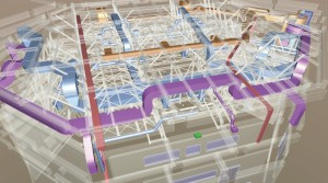 図-2 天井内のBIM
