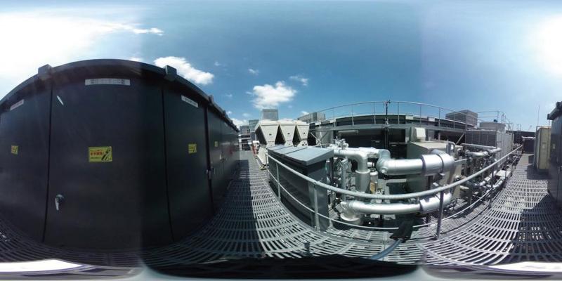 写真-4 360°パノラマ画像(専用ソフトで閲覧できる)