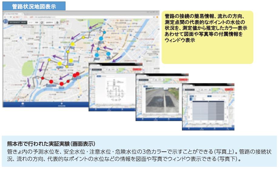 熊本市で行われた実証実験(画面表示)-2