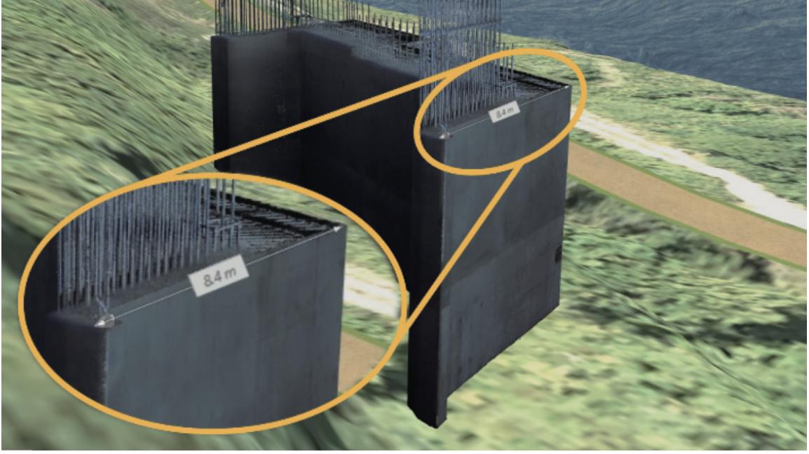 バーチャル空間に表示される検査対象の3次元モデル