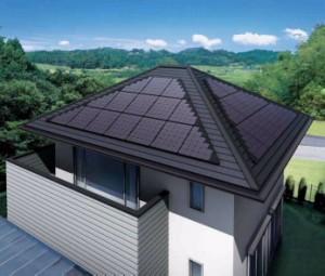 寄棟屋根対応 単結晶太陽電池モジュール