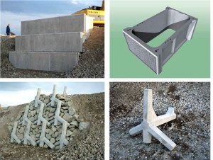 災害廃棄物を有効活用する擁壁構築工法