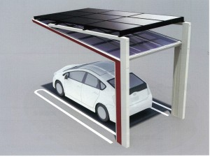 太陽光パネル搭載アルミ製カーポート