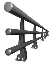 応力集中型ダグタイル鋳鉄製防護柵 ダグライト