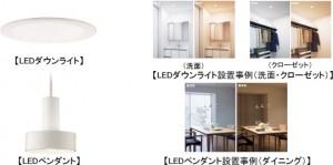 住宅用LED照明器具『光色切替明るさフリー』
