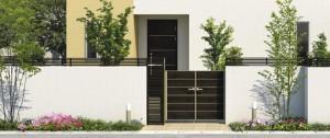 ブロック塀との組み合わせアイテムで一体感のある空間を演出する『フィオーレ』