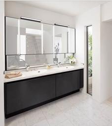 デザインと高機能を両立した最上位グレード洗面化粧台『LUMISIS』