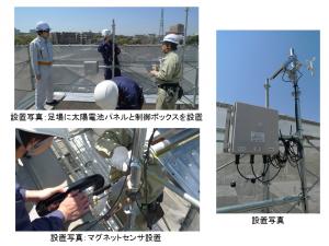 フレキシブルなセンサシステム「Muセンサ」仕様『風速・足場倒壊監視システム』