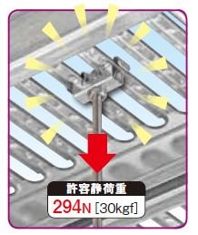 ネグロス電工が軽量床板材用吊り金具『SD-HFL1-W3』を発売