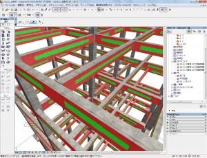 梁貫通孔設置可能範囲および設置不可範囲を自動で表示『SSC-梁貫通孔設置範囲』