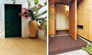 戸建住宅の玄関を高級感ある空間に演出する高意匠の外装床タイル