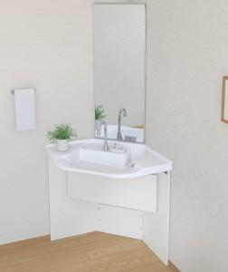 TOTOが高齢者施設・病院向け洗面商品『車いす対応洗面』コーナータイプを発売