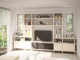 スペースと暮らしにフィットする大容量棚型収納『フィットシェルフ』