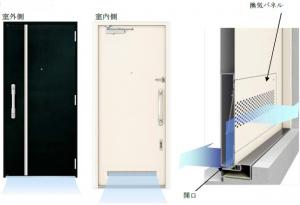 YKK APが集合住宅用『換気機能付き玄関ドア』を発売