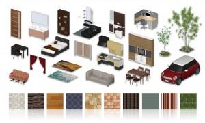 多数の住宅素材を収録した3D建築プレゼンソフト『3DマイホームデザイナーPRO8 EX2 素材パック』