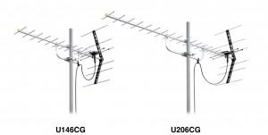 耐食性を高めた高性能型UHFアンテナ『U146CG』『U206CG』