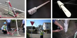 損傷した標識の早期補修により交通安全管理に貢献する『道路標識補修システム』