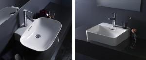 LAUFEN社の新素材「サファイアケラミック」により実現した薄い洗面器『INO』『VAL』