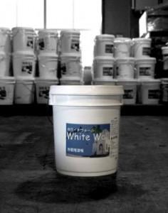 漆喰の弱点を克服した一般住宅向け外壁専用漆喰『White wall』