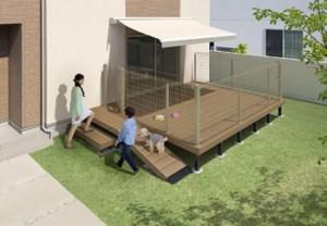 三協アルミが人工木デッキ・ガーデンルームにペット向けアイテム追加