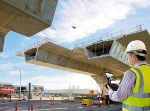 ドローンを使用して飛行測量から作業地域の3Dデータ化までを自動で行うシステム『Site Scan™』