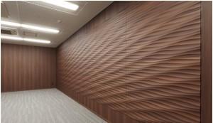 美しい陰影と上質感を表現する壁面材『ウェッジプレス不燃 オルティノタイプ』