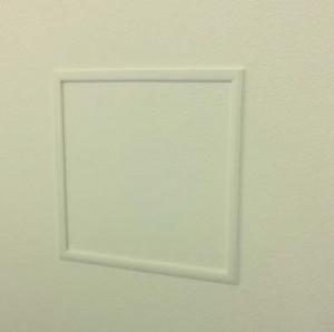 壁内の配管等を点検する際に取付ける点検口枠『壁用点検口枠 N11』