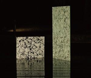 廃ガラスを蘇らせたアートガラス『雪花硝子』