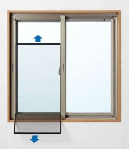 セイキ販売が引き違い窓用の内付け網戸『室内付パネル網戸』を発売