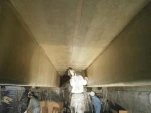 コンクリート水槽耐震補強用高強度アラミド繊維FRP複合ライニング『エアタイトJ-1耐震補強工法』