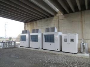 前川製作所が熱効率に優れ環境に優しい融雪システム『ノンフロン空気熱源融雪ヒートポンプ』を発売