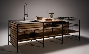 ウッドワンが新発想の無垢の木のキッチン『フレームキッチン』を新発売