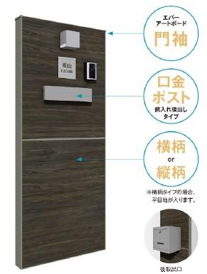 タカショーが『エバーアートボードユニット門袖 埋め込みポスト仕様』発売