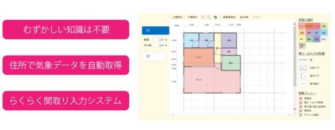 ゼロエネルギー住宅の性能シミュレーションソフト『e-cocochi(イーココチ)ホームデザイナー』発売