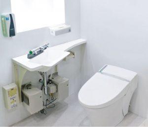 個室で手洗いのトイレ空間