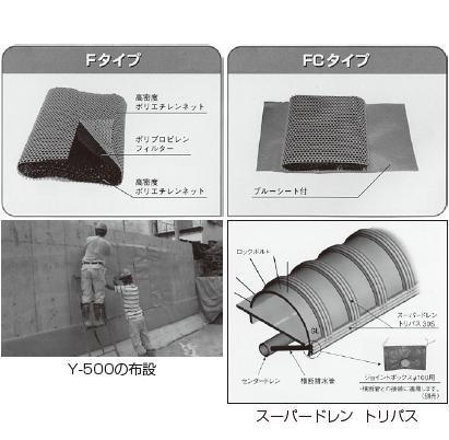 宅地擁壁用透水マット ネトロン透水マットY-500