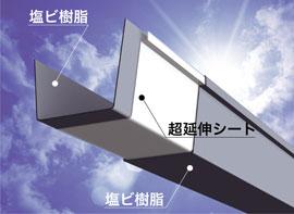 軒どい(大型建築用) 大型角とい超芯V500