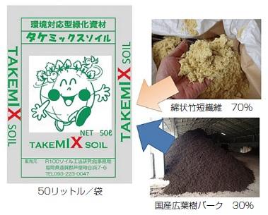 タケミックスソイル緑化工法